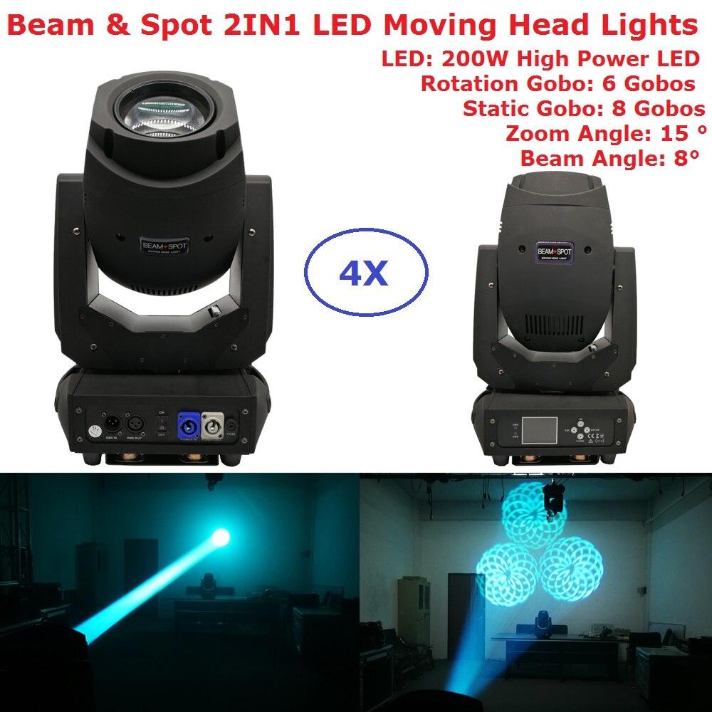 Factory Sales 200W Gobo LED Moving Head Beam Spot Lights 2 Gobo Wheel 15 Degree Zoom