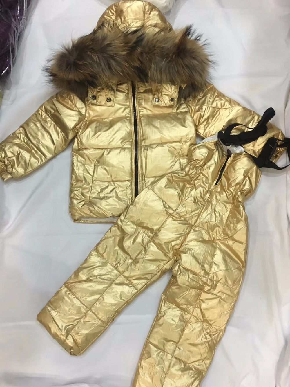 Russian Winter Toddler Clothes Set Baby Duck Down Suit Boys Clothing Kids Tracksuits Children Snow Wear Thick Coat Fur Overall a15 children duck down coat long winter warm jacket girl clothes winter coat toddler fur outdoor clothing kids teen 6 8 10 12 14
