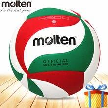 Bola de voleibol fundido v5m4500 compitition oficial tamanho 5 material do plutônio pallavolo topu voleibol bola de voleibol