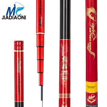 JIADIAONI 19 Tune 4.5m/5.4m/6.3m/7.2m/8.1m Carbom Fiber Taiwan Fishing Rod Fishing Pole Long Fishing Rods фото