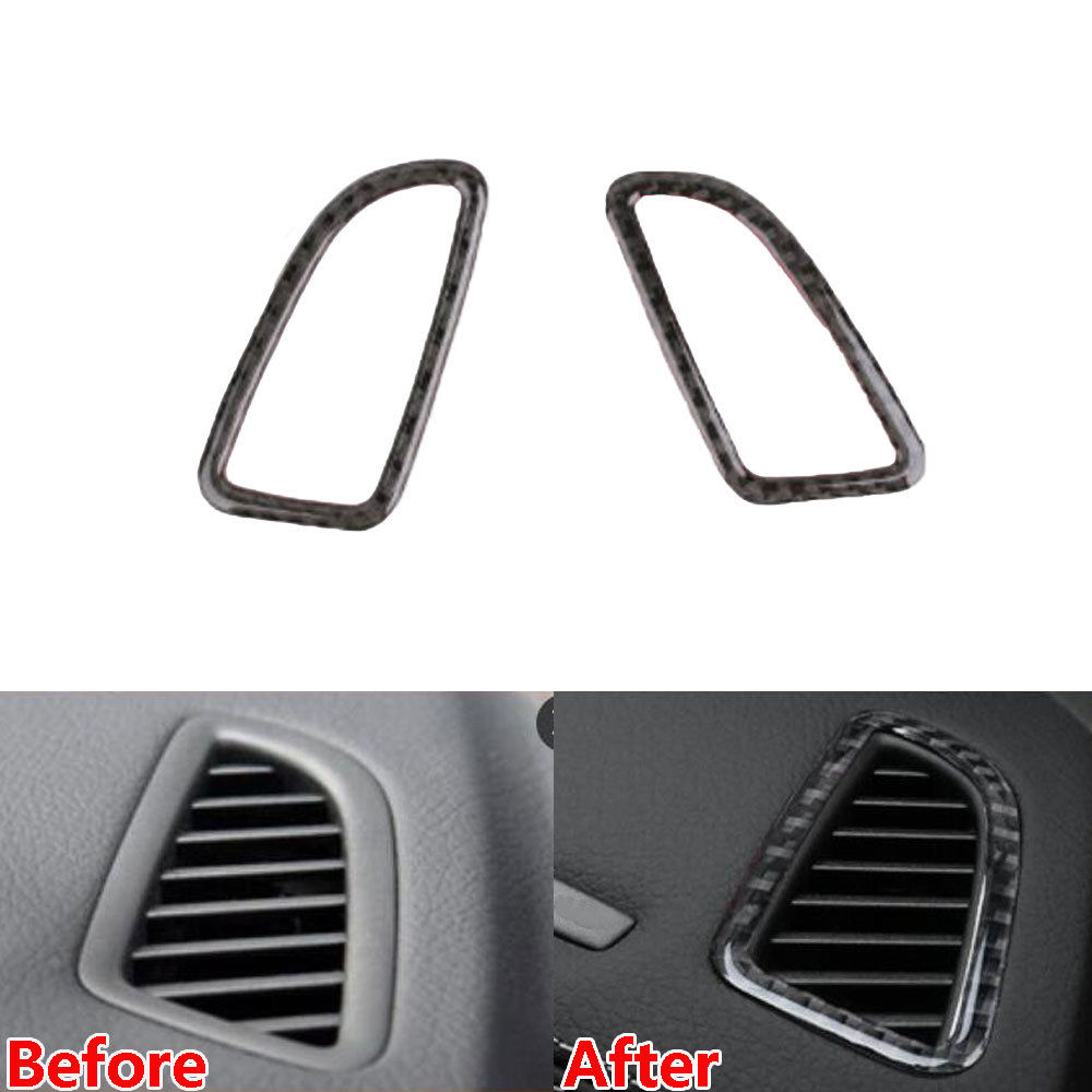 BBQ@FUKA Carbon Fiber Dashboard Air condition AC Outlet Vent Cover Trim Car Styling Fit For Mercedes Benz C Class GLC260 2016+ 6x 3d gloss twill carbon fiber b pillar trim for mercedes benz fit e class w212 09 14