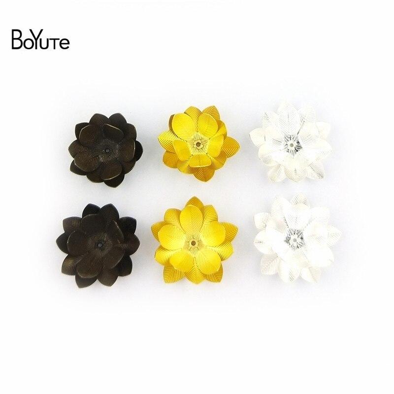BoYuTe (10 PiecesLot) 26MM Silver Gold Bronze Metal Brass Filigree Flower Decoration (5)