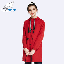 ICEbear 2017 Marca de Moda de Alta Qualidade Primavera Outono New Casual Brasão Longa Das Mulheres Trench Luva Cheia Para As Mulheres 17G109D(China (Mainland))