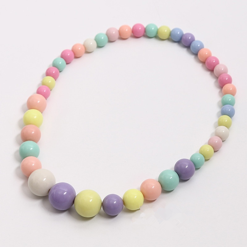 10pc lot Fashion Jewelry DIY Beads Color Acrylic Ball Beads Bracelet Necklace Keychain Hair Accessories Party Curtain Decoration in Beads from Jewelry Accessories
