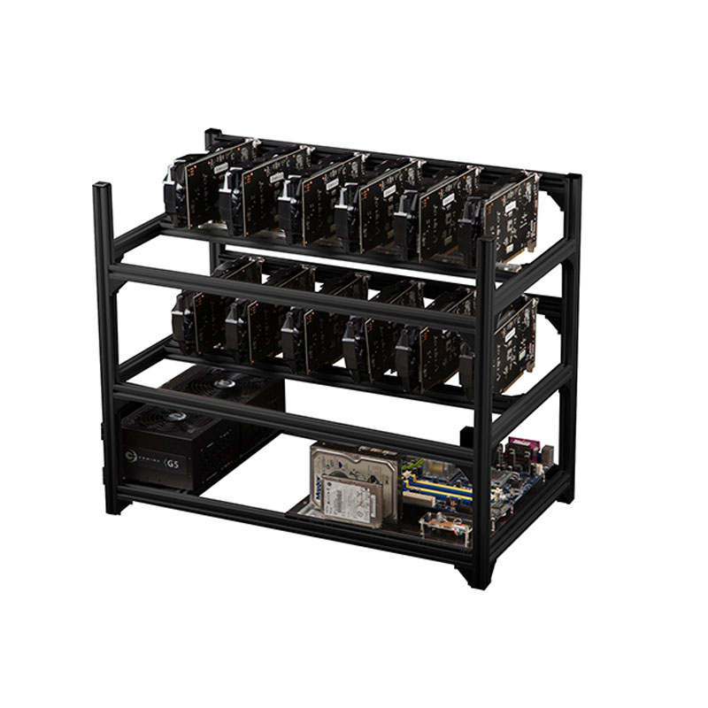12 GPU Aluminum Stackable Open Air Mining Miner Frame Rig Case сабвуфер acv swf pro124d open air