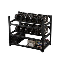 12 GPU Aluminum Stackable Open Air Mining Miner Frame Rig Case