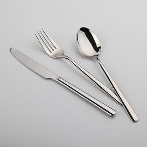 Image 3 - Zestaw obiadowy Cozy Zone 24 sztuki zestaw sztućców stal nierdzewna zachodnia zastawa stołowa klasyczny zestaw obiadowy nóż widelec restauracja jadalnia