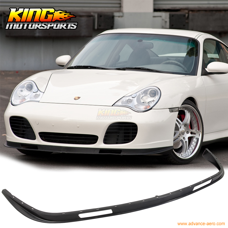 For 2001 2002 2003 2004 2005 Porsche 996 911 Coupe Turbo Carrera Front Bumper Lip Spoiler Bodykit for porsche 996 911 turbo carrera 4 4s front bumper lip spoiler urethane bodykit global free shipping worldwide