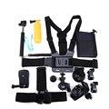 Cámara de deportes de acción accesorios kits para gopro hero 4 13-en-1 3 + 3 sj4000 sj5000 sj6000 xiaoyi soocoo s60 s70 acción cámara