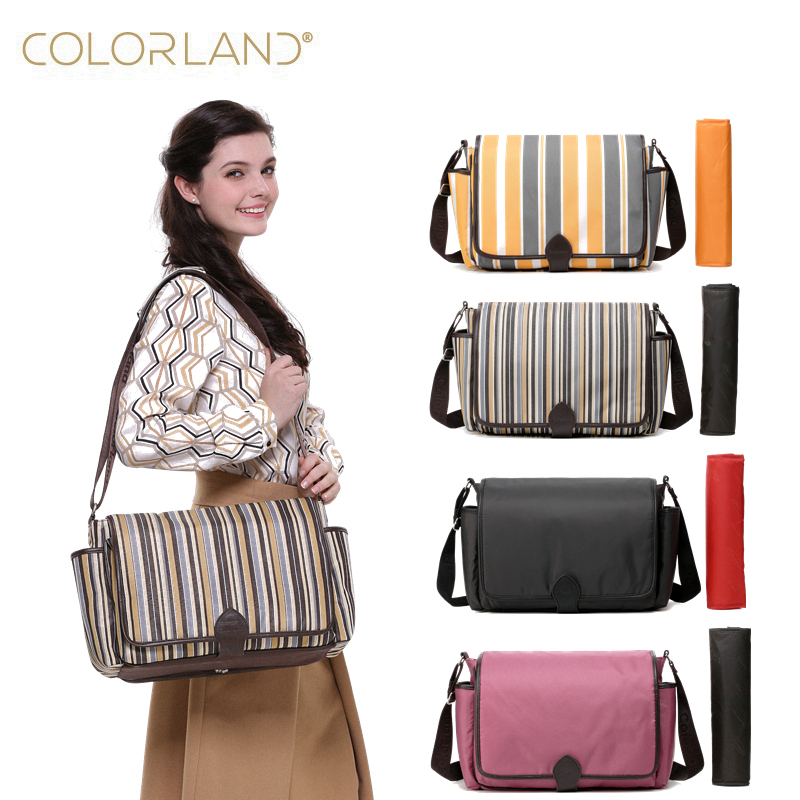 Colorland nappy changing mummy maternity designer diaper bags for mom baby Stroller bag mala maternidade mochilas maternales aimababy 2017 new pu designer baby diaper nappy changing mummy maternity bag organizer bags for mom backpack bolsa maternidade
