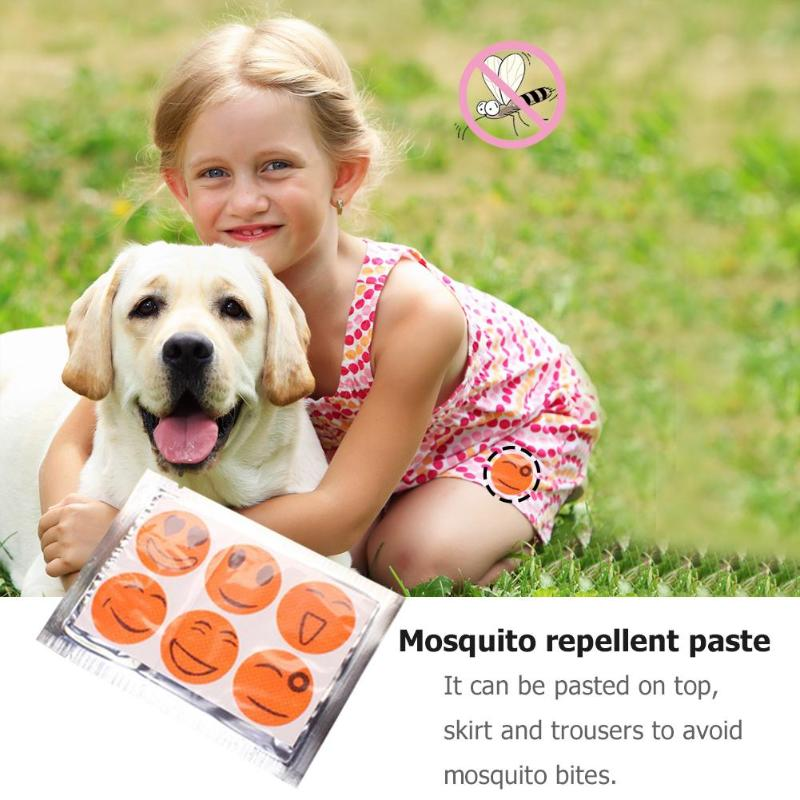 6pcs Anti Mosquito Stickers Mosquito Repellent Patch Smile Face Anti Mosquito Sticker Repeller Mosquito Killer For Baby Outdoor