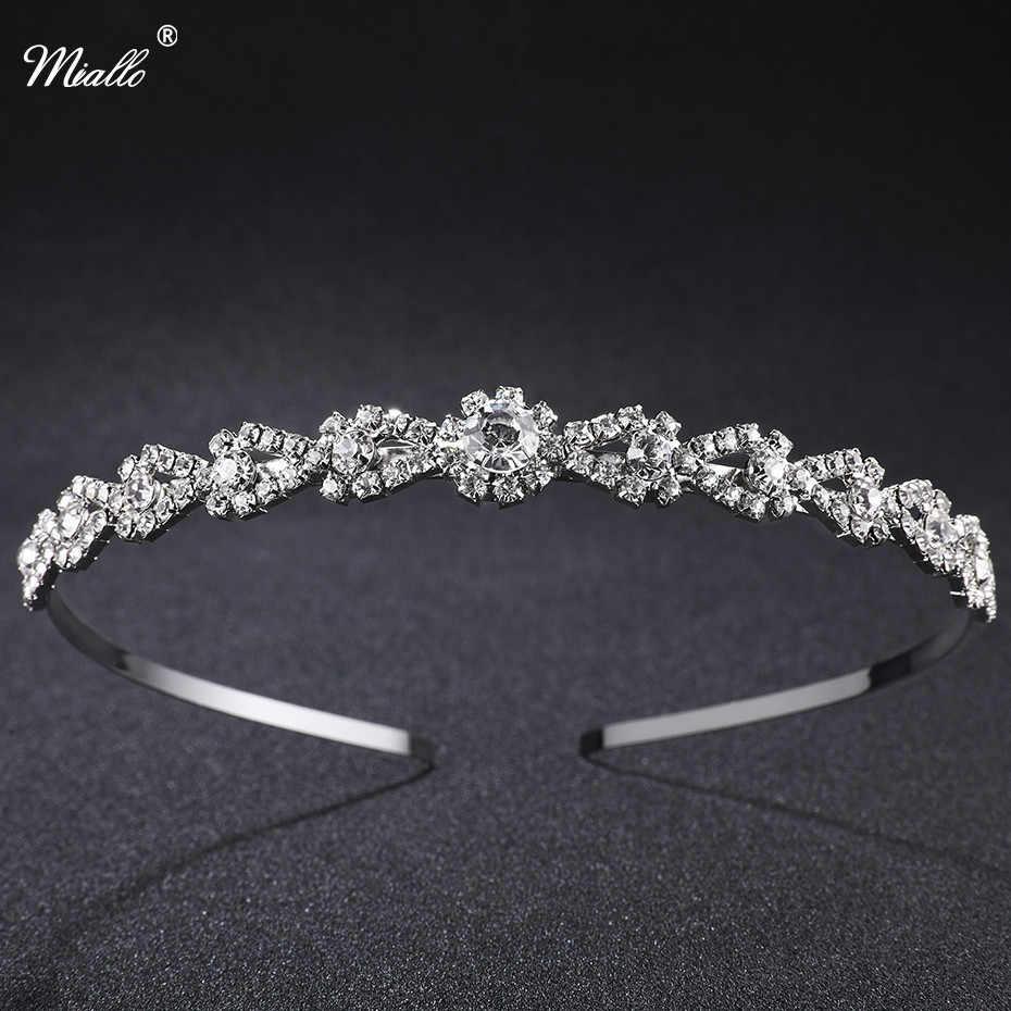 Detail Feedback Questions about Miallo Wedding Tiaras Beautiful Tiara  Bridal Headband Crown Silver Crystal Rhinestones Crown Fashion Hair Jewelry  Rim for ... 911844c4af51