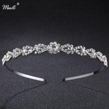 Miallo Wedding Tiaras Beautiful Tiara Bridal Headband Crown Silver Crystal Rhinestones Crown Fashion Hair Jewelry Rim for Hair