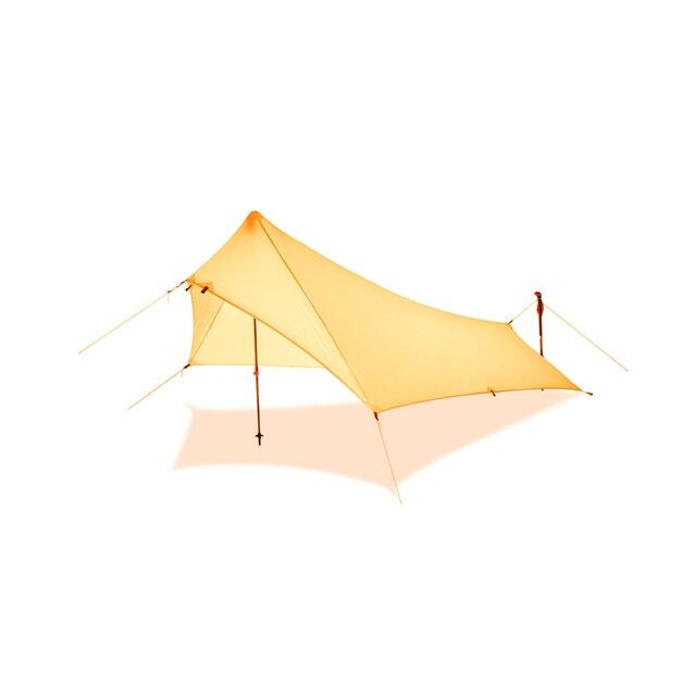 Ultra Light Rain Fly Tent Tarp, Waterproof 20d Silicone Coating Nylon Camping Shelter Canopy Rainfly, Lightweight tarp 3