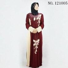 2018 fashion red print Muslim dress Women Abaya Middle East Long Robe Gowns Ramadan Dubai Arab Islamic Clothing