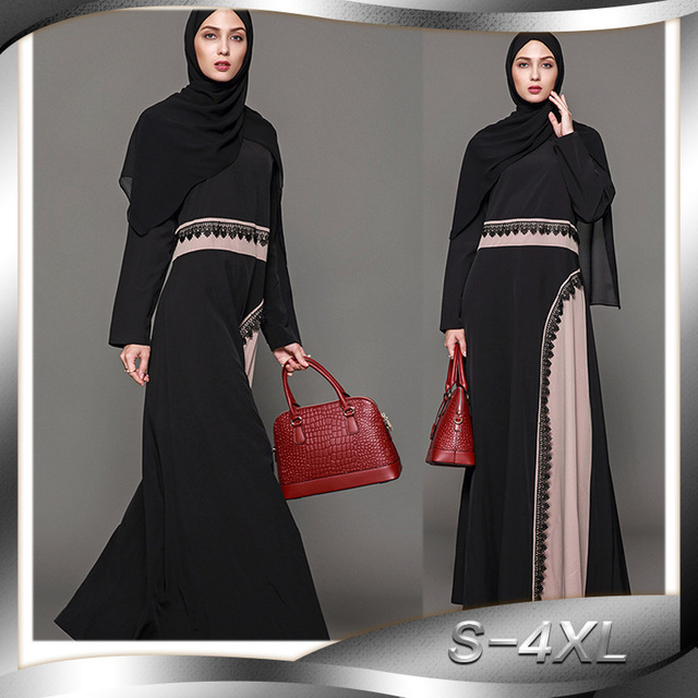 Plus Patchwork 2018 Saoudite Mode 4xl Femmes Robes Arabie Taille wqnpAxf