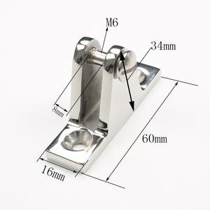 Image 5 - Bimini 탑 피팅 마린 그레이드 316 스테인레스 스틸 슬라이드 슬리브 캡베이스 마운트 힌지 세트 요트 보트 액세서리
