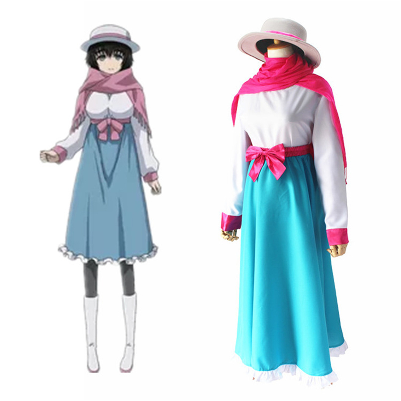 Anime Steins Gate Shiina Mayuri Women's Cosplay Costume Halloween Christmas Carnival Adult Performance Cosplay Clothing