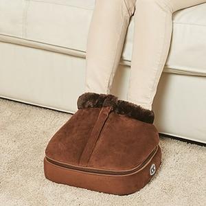 Image 1 - 2 IN 1 Electric Heated Foot Warmer Cosy Unisex Velvet Feet Heated Foot Warmer Massager Big Slipper Foot Heat Warm Massage Shoes