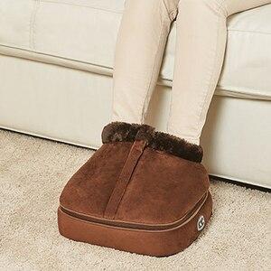 Image 1 - 2 w 1 elektryczny ogrzewacz do stóp przytulne Unisex aksamitne stopy ogrzewacz do stóp masażer duży pantofel stopy ciepła ciepłe buty do masażu