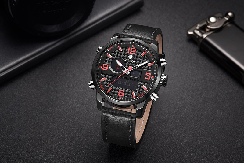 WWOOR 8859 Watch Men Top Brand Luxury Quartz Men\'s Business Military Wrist Watches Leather Analog Clock Men relogio masculino (12)