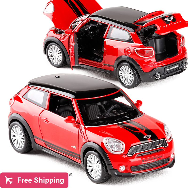 New 1:32 Scale Diecast Alloy Metal Car Model For MINI Coopers Countryman Collection Model With Pull Back Car Toy For Kids Gifts