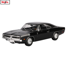 Maisto 1:18 Dodge 1969 classic car Alloy Retro Car Model Classic Decoration Collection gift