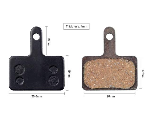 1 par de freno de disco de bicicleta almohadillas para Shimano M515 M525 M4050 C501 C601 M355 M375 M395 M415 M416 M445 M446 de freno de disco
