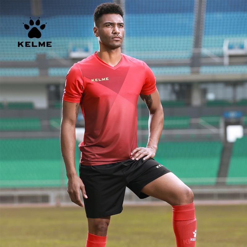 Kelme Men's Soccer Football Jersey Set Customized Mens Uniform Training Suits Jersey Breathable 3981509