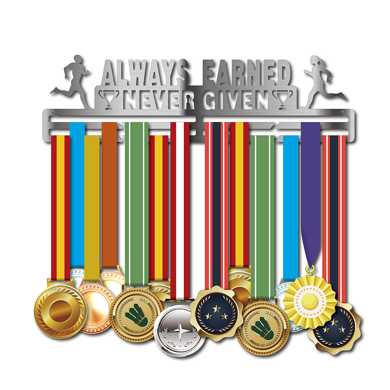DDJOPH medal hanger AlWAYS EARNED NEVER GIVEN medal holder for running,swimming,gymnastics medalsDDJOPH medal hanger AlWAYS EARNED NEVER GIVEN medal holder for running,swimming,gymnastics medals