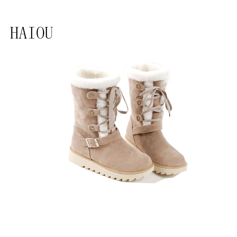 2016 new arrival woman winter snow boots waterproof boots australian fur fashion platform ankle boots for women shoes size34-43 moomin 2016 new arrival winter waterproof romper 100