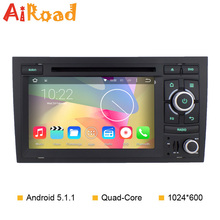 7 inch Quad Core 1024*600 Car GPS Navigator for Audi A4 Android 5.1.1 DVD Player S4 RS4 8E 8F B9 B7 Radio Navigation System Wifi