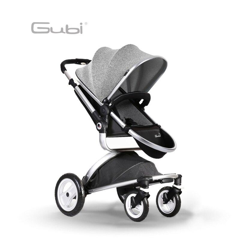 Gubi Baby stroller High Landscape Four Wheel Shock Absorber Childrens Umbrella Carts Super Light Folding Baby Trolley