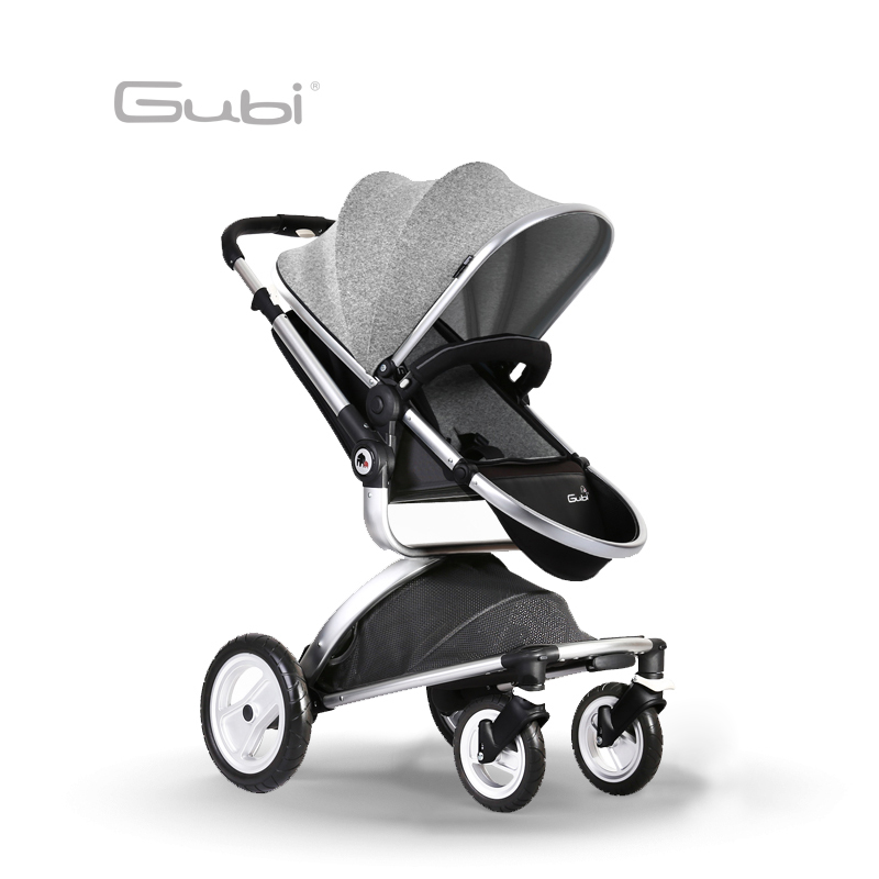 Gubi Baby stroller High Landscape Four Wheel Shock Absorber Children's Umbrella Carts Super Light Folding Baby Trolley