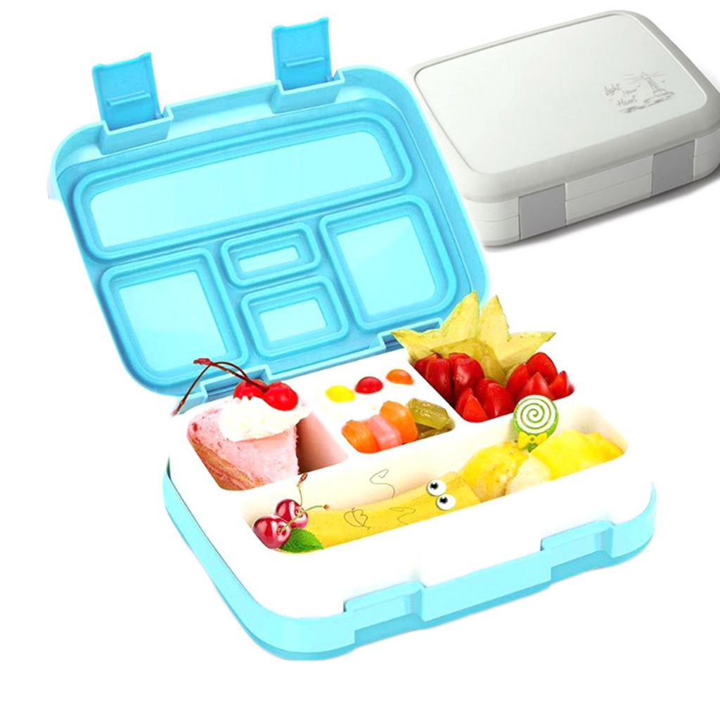 Lunch Box for kids Plastic Food Prep Containers Storage Lunch Box Compartment Multi-Grids Storage Box School Outdoor