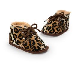 Зимняя теплая детская хлопковая обувь, детская мягкая Нескользящая хлопковая обувь для малышей с нескользящей подошвой, Осенняя детская