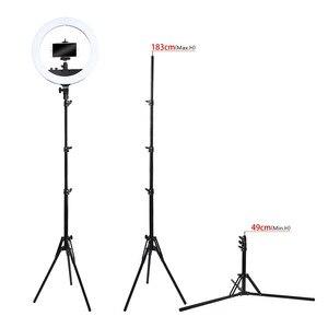 Image 4 - Fosoto三脚ライトスタンド & 1/4ネジポータブルヘッド用フォトスタジオ写真照明フラッシュ傘リフレクター