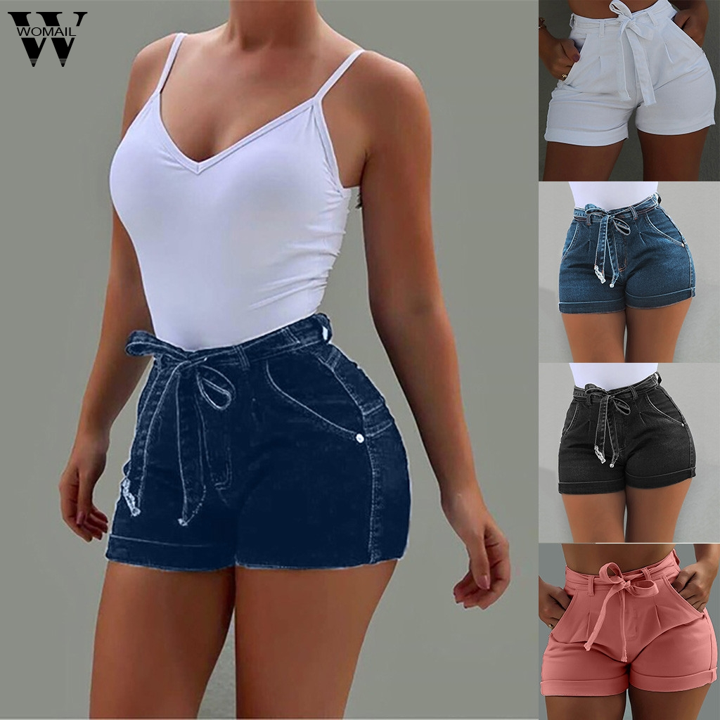 Womail Short Women Summer Sexy High Waist Female Pockets Denim Shorts For Female Mini Short Denim Plus Size 5XL NEW 2019 M522