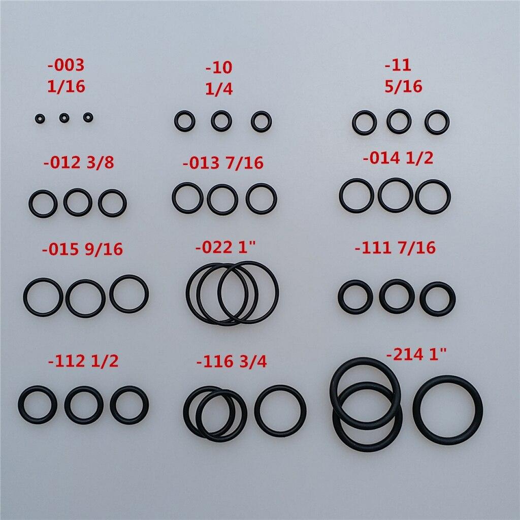 170Pcs 12 Sizes Dive O-Ring Kit for Scuba Diving Tank Valves, Hoses, Regulators, Cameras etc Diver Gear Replacement Accessories