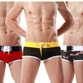 Frete grátis novo 2016 venda quente barato sexy moda além disso tamanho solta cor sólida homens tronco Boxer Shorts Top Vendedor S-XL