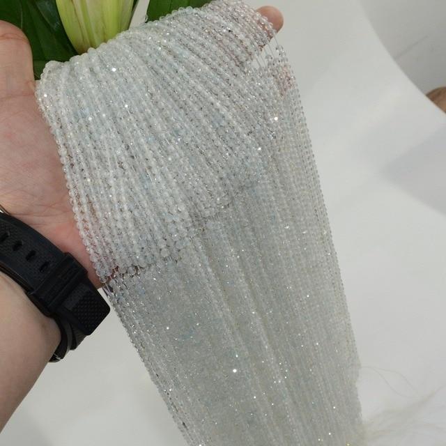 Topaze naturelle facettée perles rondes en vrac 2mm, 3mm, 4mm