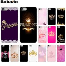 Babaite Princess crown Soft Silicone Transparent Phone Case for Apple iPhone 8 7 6 6S Plus X XS MAX 5 5S SE XR Cellphones babaite cartoon air plane soft silicone transparent phone case for apple iphone 8 7 6 6s plus x xs max 5 5s se xr cover