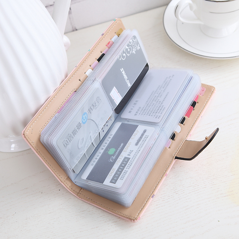 2017 women Card credit wallet two-folded buckle long design Card Holders lady's card bag wallet female Credit Card Holder