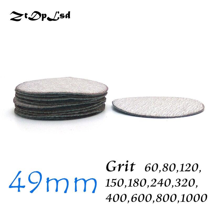 ZtDpLsd 10 Pcs/lot 2 Inches Dry Grinding White Abrasive Paper Flocking Sandpaper Pad Sanding Disc Electric Die Grinder