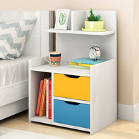 Simple modern nightstand sofa side cabinet bedroom bedside table chest of drawers storage rack mx6241633