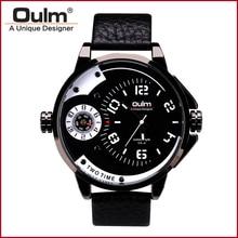 Oulm Ejército HP3706 3ATM Impermeable Relojes Para Hombre de Lujo Reloj de Pulsera Correa de Cuero para Hombre
