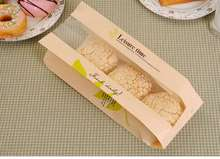 20 Pcs kraft paper Bag window Bread Donut Leisure paper Food Packaging bags Cake Toast DIY Baking Bakery Packaging white Brown outdoor travel dissolving paper soaps white 20 pcs