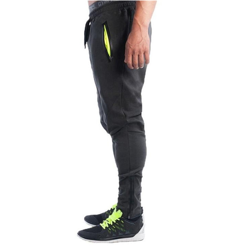 YUANHUIJIA 2018 Mens Joggers Male Fitness Casual Fashion Brand Joggers Sweatpants Bottom Snapback Pants Men Aesthetics Hombre