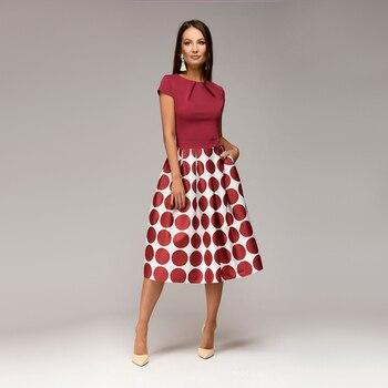 Women Dot Print Summer 2018 Casual Dress 4