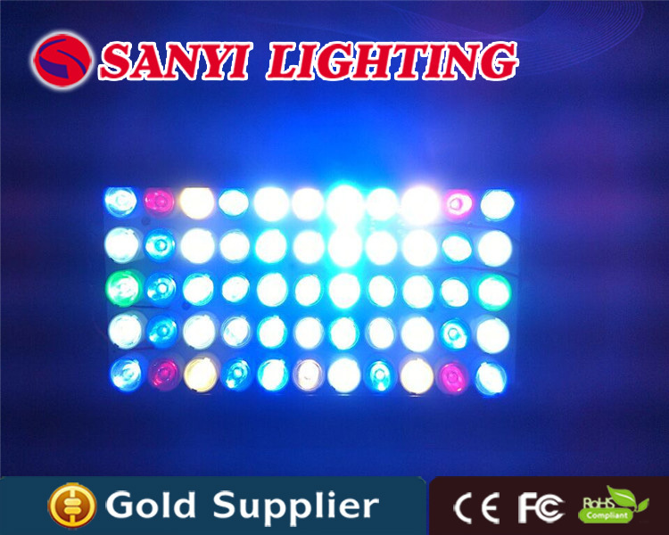Hot sale aquarium lighting marine coral reef 55x3W dimmable full spectrum red+blue+green+warm white+cool white